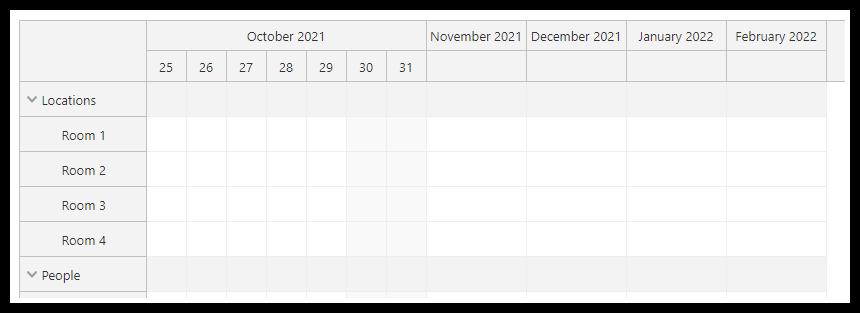 javascript scheduler non linear timeline