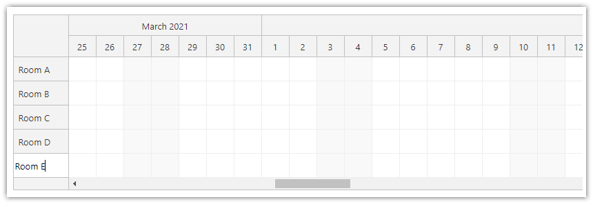 html5 javascript scheduler add new row