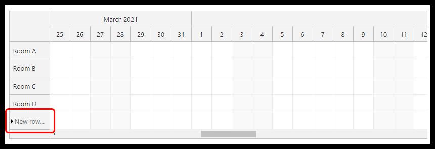 html5 javascript scheduler row creation