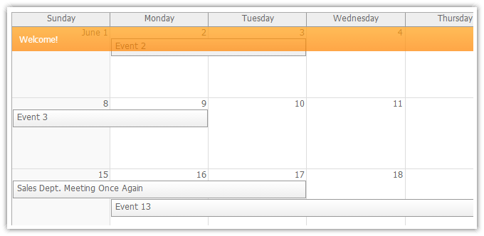 Weekly Calendar Javascript : Monthly event calendar daypilot documentation