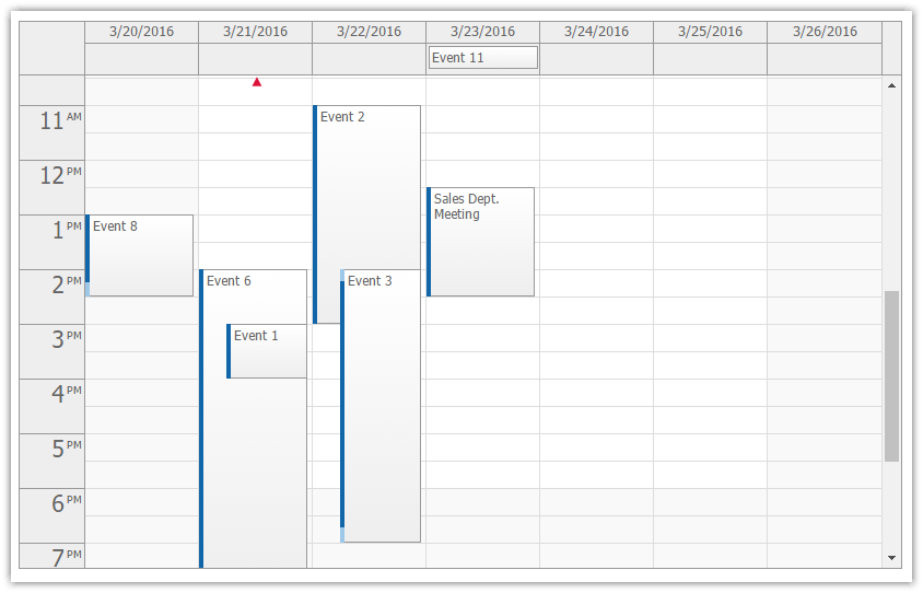 Week View - Event Calendar | DayPilot Documentation - Scheduling ...