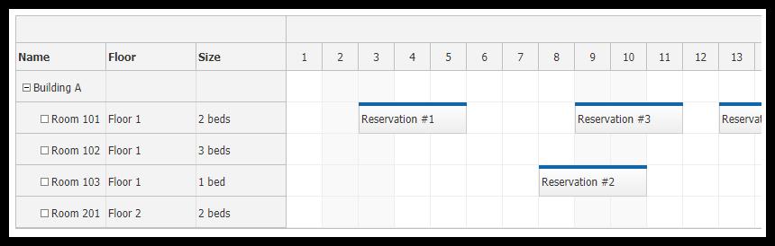Row Header Columns - Scheduler | DayPilot Documentation